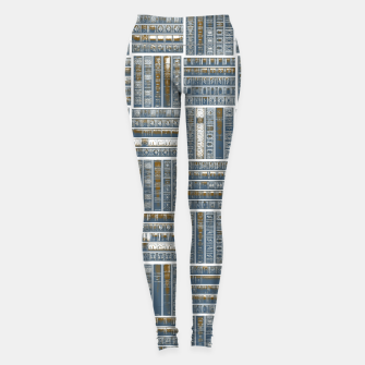 Thumbnail image of The Bookish Checkerboard Leggings, Live Heroes