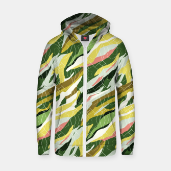 Gorgeous Green Military Cotton zip up hoodie thumbnail image