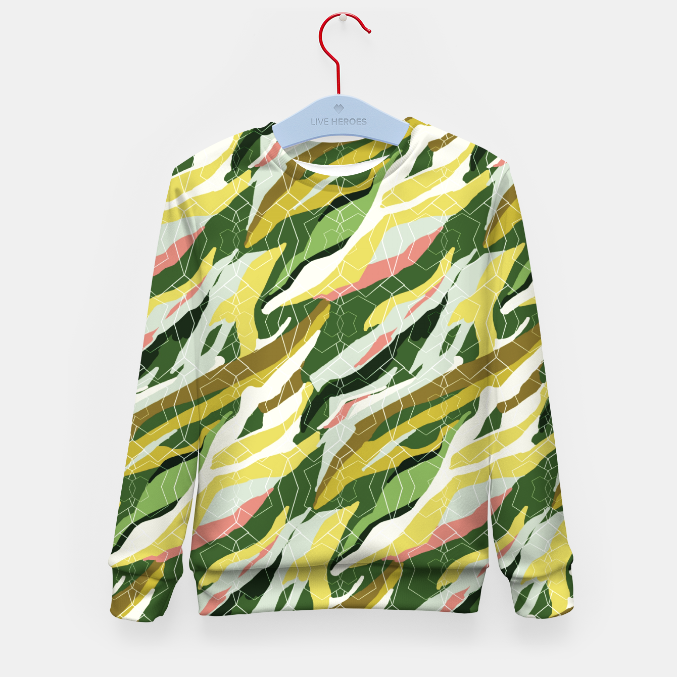 Image of Gorgeous Green Military Kid's sweater - Live Heroes