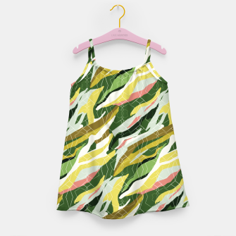 Gorgeous Green Military Girl's dress thumbnail image