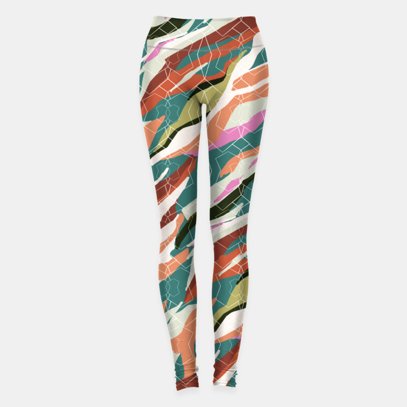 Image of Gorgeous Blue Military Leggings - Live Heroes