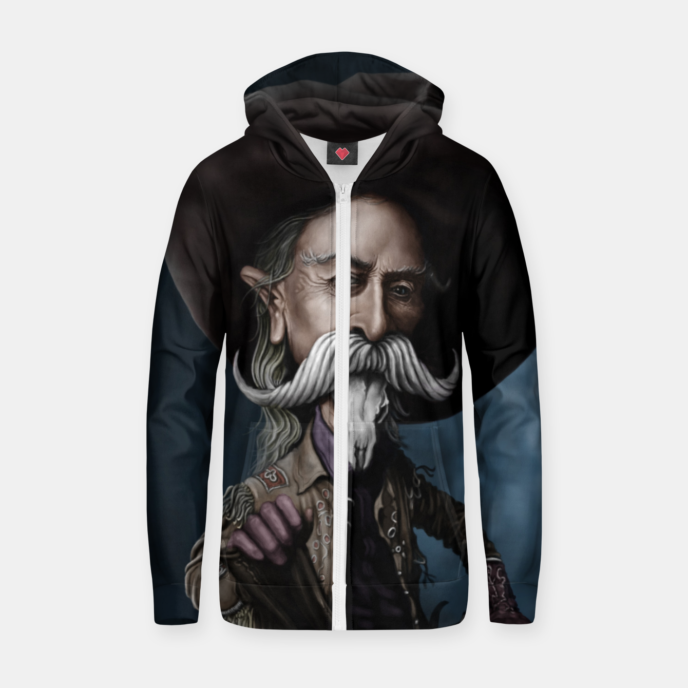 Image of Buffalo Bill Cotton zip up hoodie - Live Heroes