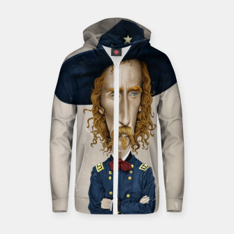 Thumbnail image of General George Custer Cotton zip up hoodie, Live Heroes