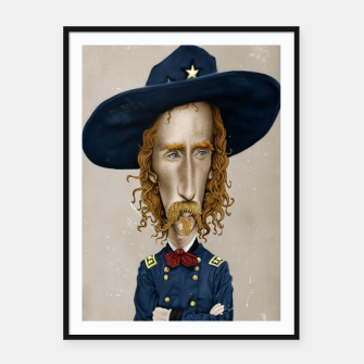 General George Custer Framed poster thumbnail image