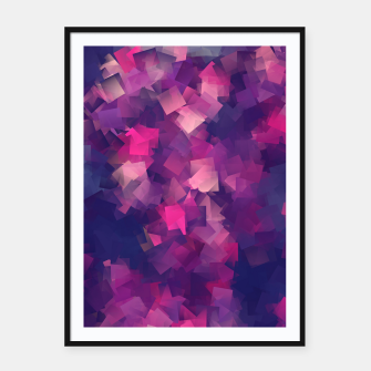 Miniatur abstraction purple magenta  Plakaty w ramie , Live Heroes