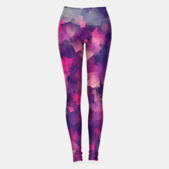 Miniatur abstraction purple magenta  Legginsy, Live Heroes