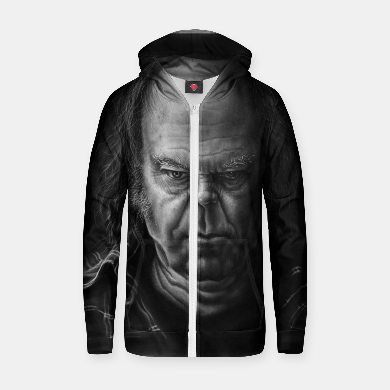 Image of Neil Young Cotton zip up hoodie - Live Heroes
