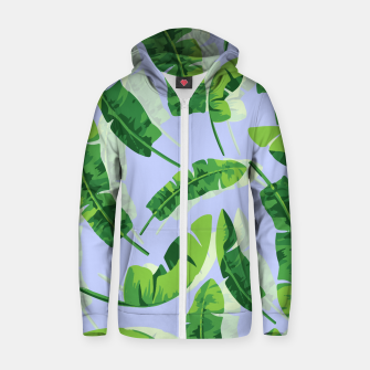 Thumbnail image of Banana Leaf  Cotton zip up hoodie, Live Heroes