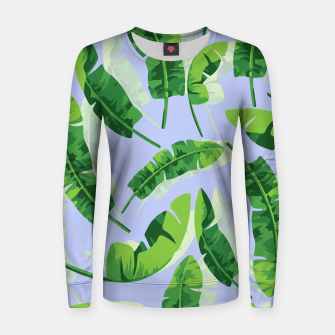 Thumbnail image of Banana Leaf  Woman cotton sweater, Live Heroes