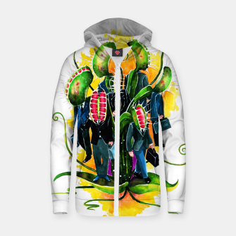 Thumbnail image of plant workers Cotton zip up hoodie, Live Heroes
