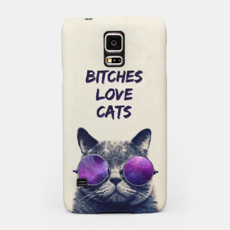 Thumbnail image of BITCHES LOVE CATS Samsung Case, Live Heroes