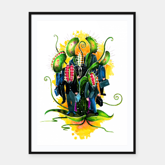 Thumbnail image of plant workers Framed poster, Live Heroes