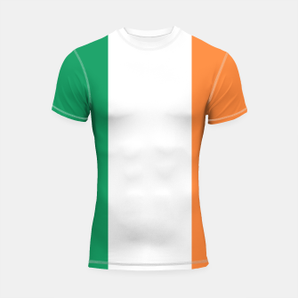 Miniatur Irish Tricolour Green Orange and White Irish Flag Shortsleeve rashguard, Live Heroes