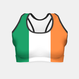Miniature de image de Irish Tricolour Green Orange and White Irish Flag Crop Top, Live Heroes