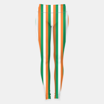 Miniature de image de Irish Tricolour Horizontal Stripes Green Orange and White Irish Flag Leggings, Live Heroes