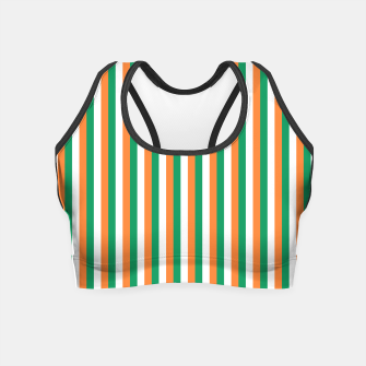 Miniature de image de Irish Tricolour Horizontal Stripes Green Orange and White Irish Flag Crop Top, Live Heroes