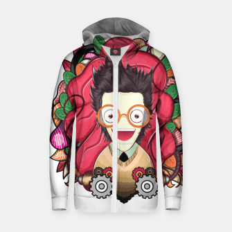 Thumbnail image of Smart Boy Cotton zip up hoodie, Live Heroes