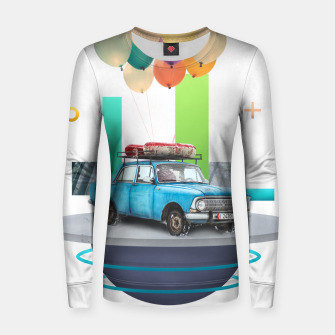 Miniatur Flying Car Woman cotton sweater, Live Heroes