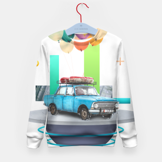 Miniatur Flying Car Kid's sweater, Live Heroes