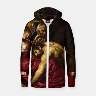 Thumbnail image of Samson and Delilah by Peter Paul Rubens Cotton zip up hoodie, Live Heroes
