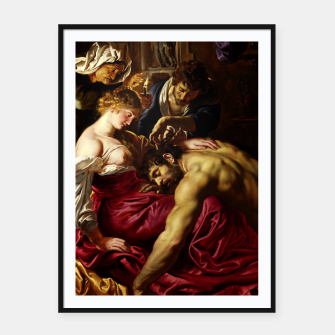 Thumbnail image of Samson and Delilah by Peter Paul Rubens Framed poster, Live Heroes