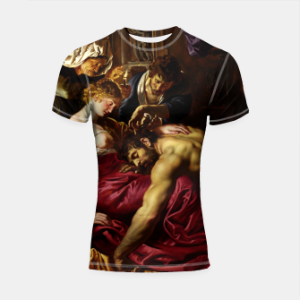 Thumbnail image of Samson and Delilah by Peter Paul Rubens Shortsleeve rashguard, Live Heroes