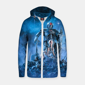 Thumbnail image of The Quantum Warrior Cotton zip up hoodie, Live Heroes