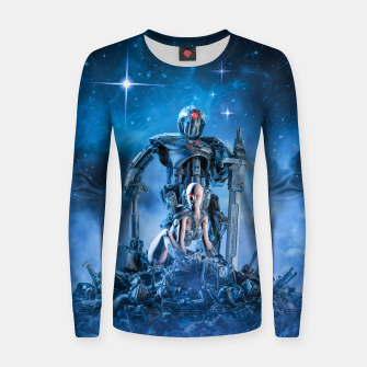 Thumbnail image of The Quantum Warrior Woman cotton sweater, Live Heroes