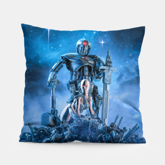 Thumbnail image of The Quantum Warrior Pillow, Live Heroes