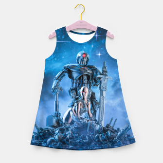 Thumbnail image of The Quantum Warrior Girl's summer dress, Live Heroes