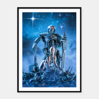 Thumbnail image of The Quantum Warrior Framed poster, Live Heroes