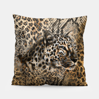 Thumbnail image of Leopard Pillow, Live Heroes