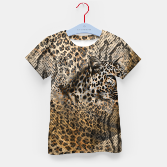 Thumbnail image of Leopard Kid's t-shirt, Live Heroes