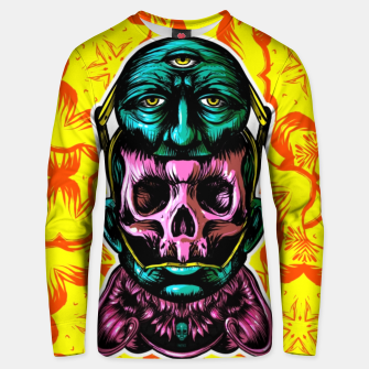 Thumbnail image of Skull and face helmet Cotton sweater, Live Heroes