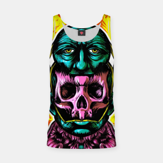 Thumbnail image of Skull and face helmet Tank Top, Live Heroes