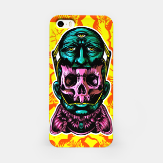 Thumbnail image of Skull and face helmet iPhone Case, Live Heroes