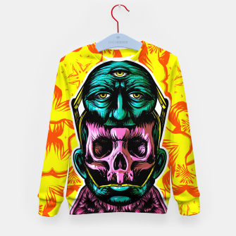 Thumbnail image of Skull and face helmet Kid's sweater, Live Heroes