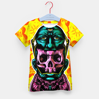 Thumbnail image of Skull and face helmet Kid's t-shirt, Live Heroes