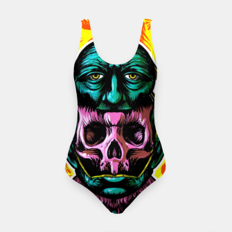 Thumbnail image of Skull and face helmet Swimsuit, Live Heroes