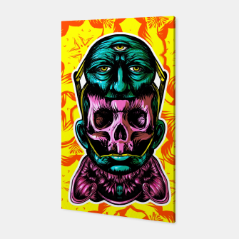 Thumbnail image of Skull and face helmet Canvas, Live Heroes
