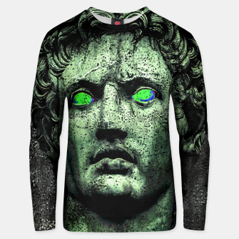 Thumbnail image of Angry Caesar Augustus Photo Manipulation Portrait Cotton sweater, Live Heroes