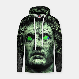 Thumbnail image of Angry Caesar Augustus Photo Manipulation Portrait Cotton hoodie, Live Heroes