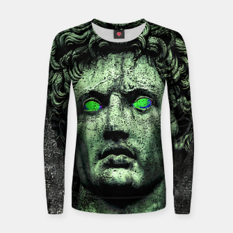 Thumbnail image of Angry Caesar Augustus Photo Manipulation Portrait Woman cotton sweater, Live Heroes