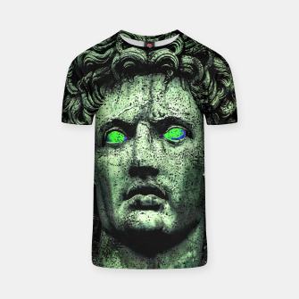 Thumbnail image of Angry Caesar Augustus Photo Manipulation Portrait T-shirt, Live Heroes