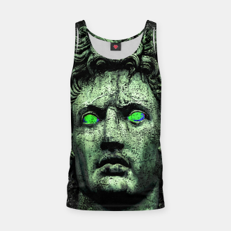 Thumbnail image of Angry Caesar Augustus Photo Manipulation Portrait Tank Top, Live Heroes
