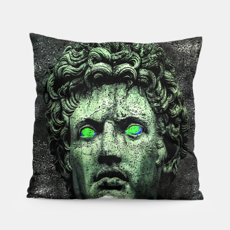 Thumbnail image of Angry Caesar Augustus Photo Manipulation Portrait Pillow, Live Heroes