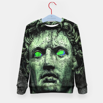 Thumbnail image of Angry Caesar Augustus Photo Manipulation Portrait Kid's sweater, Live Heroes