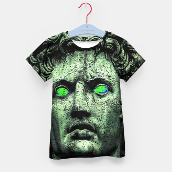 Thumbnail image of Angry Caesar Augustus Photo Manipulation Portrait Kid's t-shirt, Live Heroes