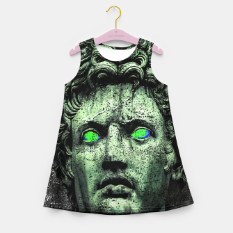 Thumbnail image of Angry Caesar Augustus Photo Manipulation Portrait Girl's summer dress, Live Heroes