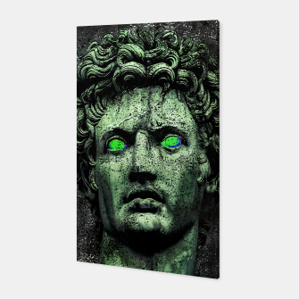 Thumbnail image of Angry Caesar Augustus Photo Manipulation Portrait Canvas, Live Heroes